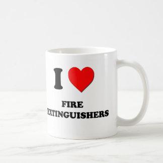 I Love Fire Extinguishers Mugs