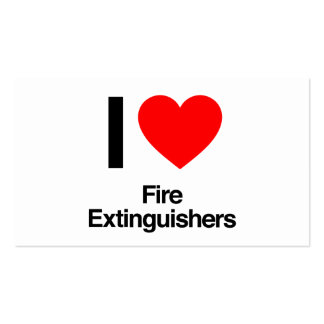 i love fire extinguishers pack of standard business cards