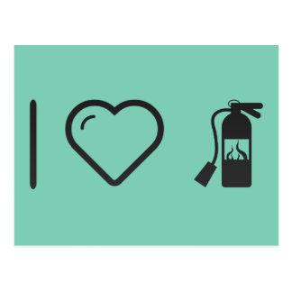 I Love Fire Extinguishers Postcard