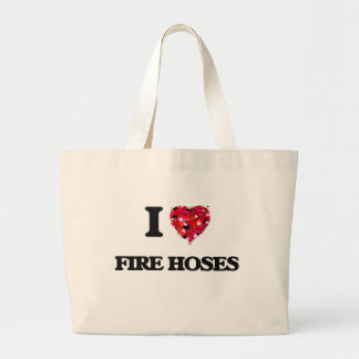 I Love Fire Hoses Jumbo Tote Bag