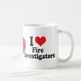 I Love Fire Investigators Mugs