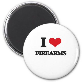 i LOVE fIREARMS Magnets