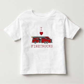 I Love Firetrucks Toddler T-Shirt