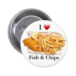 I Love Fish and Chips 6 Cm Round Badge