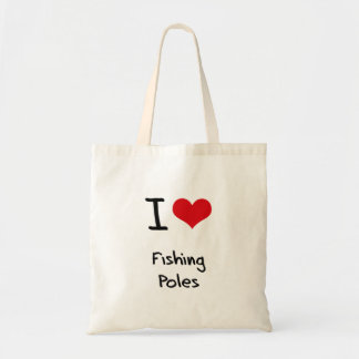 I Love Fishing Poles Canvas Bags