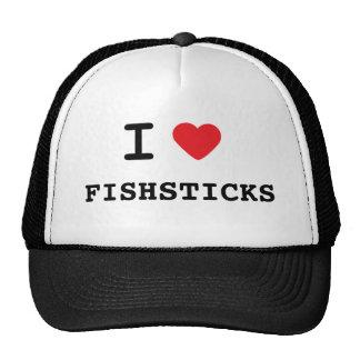 I LOVE FISHSTICKS TRUCKER HATS