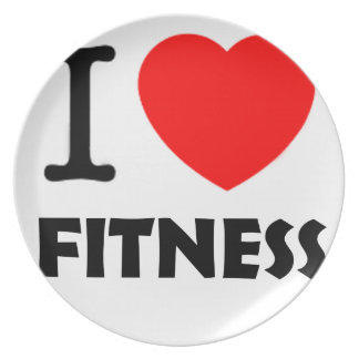 I Love Fitness Plate