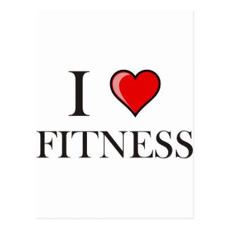 I love fitness postcard
