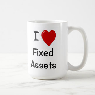 I Love Fixed Assets - I Heart Fixed assets Coffee Mug