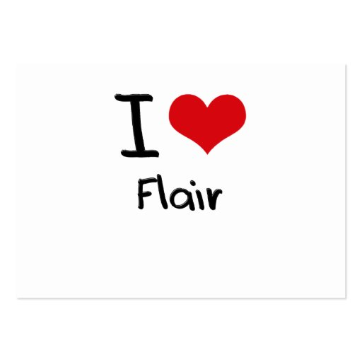 I Love Flair Business Card