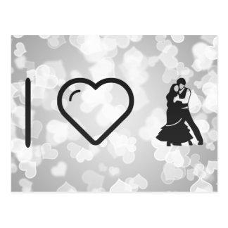 I Love Flamenco Partners Postcard