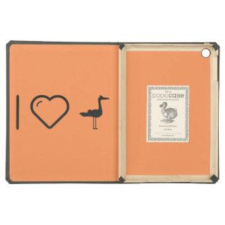 I Love Flamingo Ducks iPad Air Cover