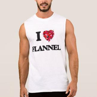 I Love Flannel Sleeveless Shirts