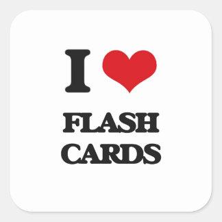 i LOVE fLASH cARDS Square Sticker