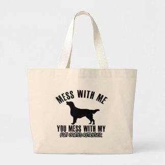 I love FLAT COATED RETRIEVER Tote Bag