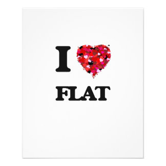 I Love Flat 11.5 Cm X 14 Cm Flyer