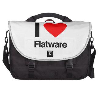i love flatware laptop messenger bag