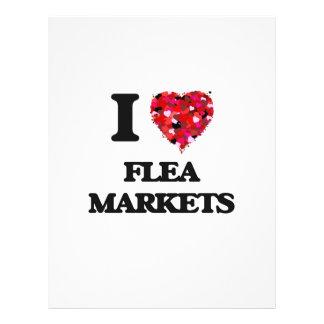 I Love Flea Markets 21.5 Cm X 28 Cm Flyer