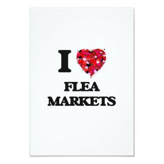 I Love Flea Markets 9 Cm X 13 Cm Invitation Card