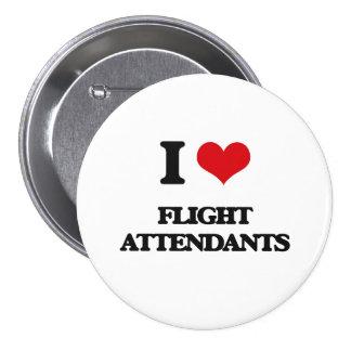 I love Flight Attendants Pinback Button