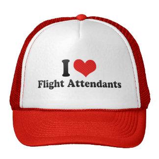 I Love Flight Attendants Mesh Hats