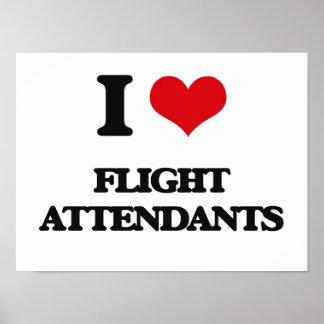 I love Flight Attendants Posters