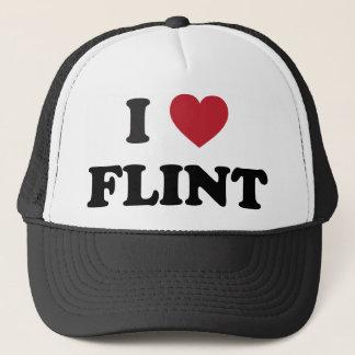 I love Flint Michigan Trucker Hat