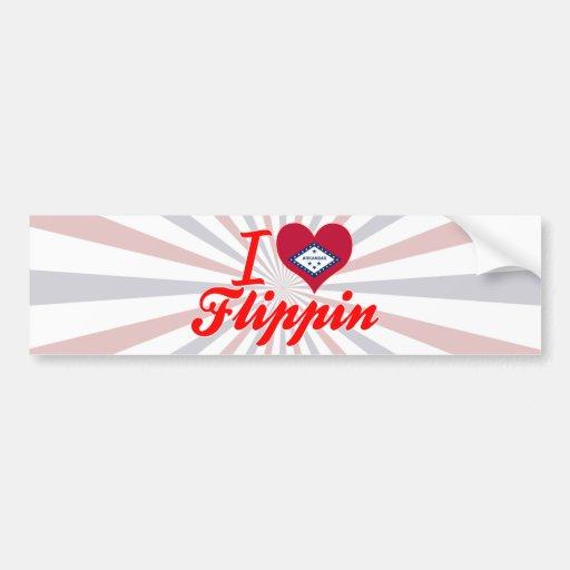 I Love Flippin, Arkansas Bumper Sticker