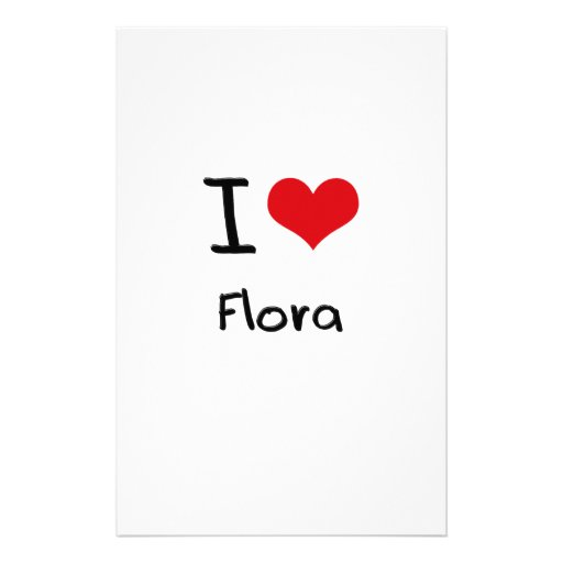 I Love Flora Personalized Stationery