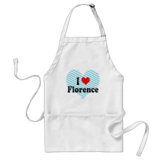 I Love Florence, Italy Aprons
