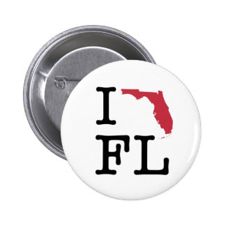 I Love Florida 6 Cm Round Badge