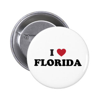 I Love Florida 6 Cm Round Badge