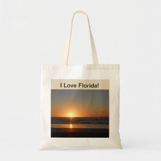 I Love Florida Beach Scene Tote Bag