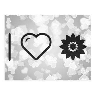 I Love Flower Develops Postcard