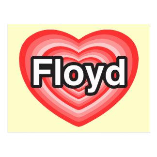 I love Floyd I love you Floyd Heart Postcards
