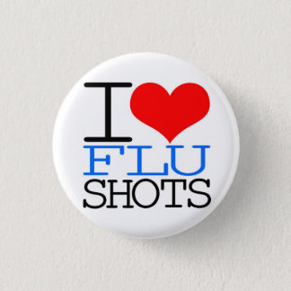 I Love Flu Shots 3 Cm Round Badge