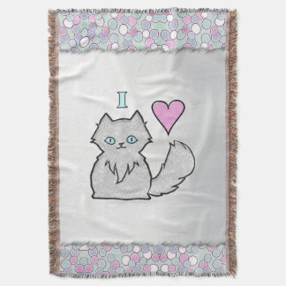 I Love Fluffy White Kitties