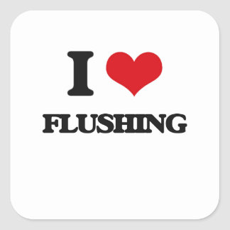 i LOVE fLUSHING Square Sticker