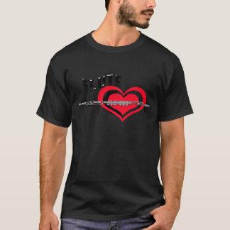 I Love Flute Heart T-Shirt