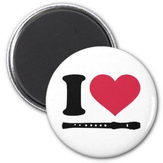 I love Flute Refrigerator Magnets