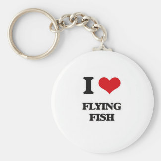 I Love Flying Fish Key Ring