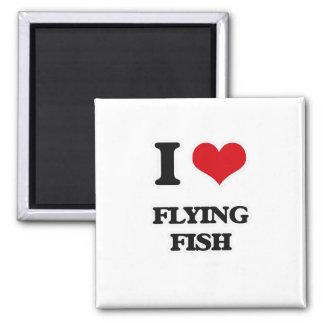 I Love Flying Fish Magnet