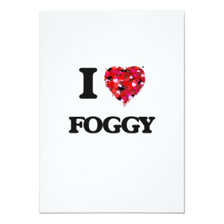 I Love Foggy 13 Cm X 18 Cm Invitation Card