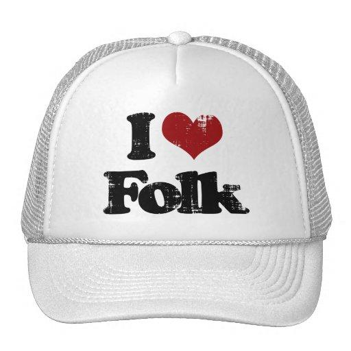 i love folk trucker hats