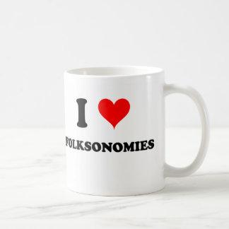 I Love Folksonomies Coffee Mugs