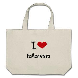 I Love Followers Canvas Bag