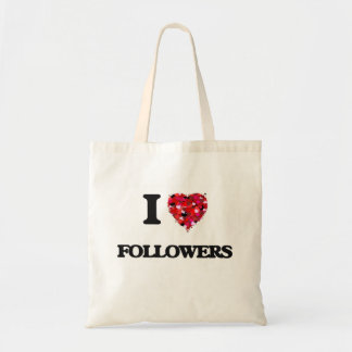 I Love Followers Budget Tote Bag