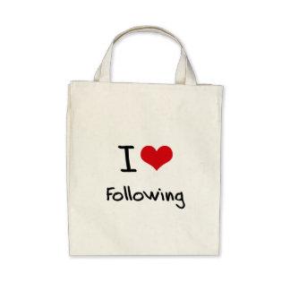 I Love Following Canvas Bag