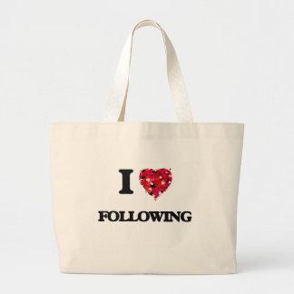 I Love Following Jumbo Tote Bag