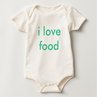 i love food baby bodysuit